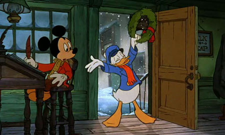 mickey as bob cratchit and donald as scrooges nephew - Mickeys A Christmas Carol