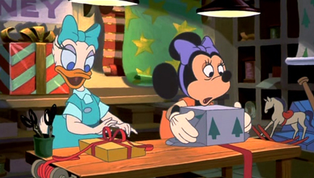minnie looks extremely overworked here - Mickeys Once Upon A Christmas Vhs