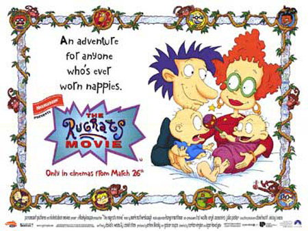 An xmas movie poster for the 1998 rugrats movie