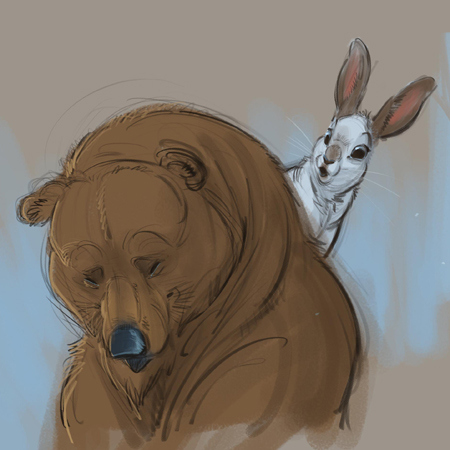the bear and the hare sketch